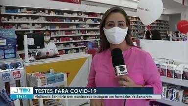 Vigilância Sanitária tem monitorado testagem em farmácias em Santarém - No município, duas farmácias são autorizadas a realizar os testes rápidos para covid-19.