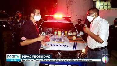 Prefeito de Montes Claros sanciona lei que proíbe soltura de pipas - Uma mulher morreu ao ser atingida por uma linha chilena na cidade neste ano.