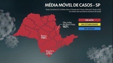 Governo de SP anuncia retrocesso do Vale do Ribeira para a fase vermelha - Região da cidade de Registro estava na fase amarela e teve alta nos casos, internações e óbitos. A cidade de São Paulo se manteve na fase amarela.