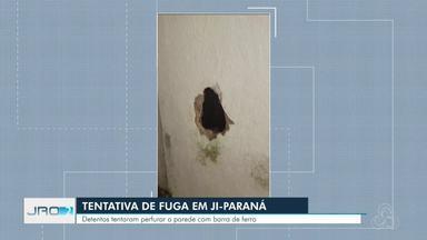 Agentes penitenciários frustam tentativa de fuga no presídio estadual em Ji-Paraná - Detentos tentaram furar a parede com cabo de ferro