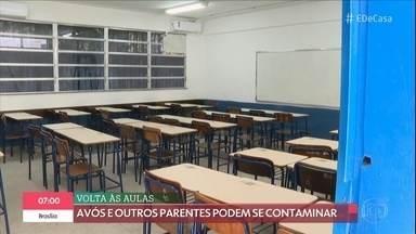 Volta às aulas pode ser um risco para a população - Avós e outros parentes podem se contaminar