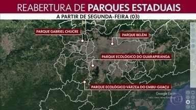 Mais quatro parques estaduais vão reabrir em São Paulo - Os frequentadores terão que observar medidas sanitárias e distanciamento social.