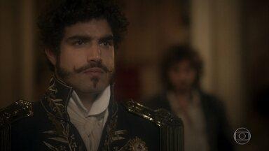 Dom Pedro se aconselha com Joaquim - O príncipe teme estar sendo enganado por Benedita e diz que sente falta da amizade com ele
