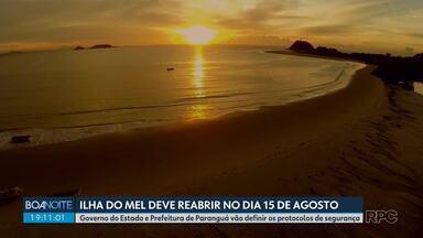 Ilha do Mel deve reabrir 15 de agosto - Governo do Estado e Prefeitura de Paranaguá vão definir os protocolos de segurança.