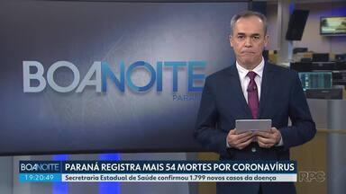 Paraná registra mais 54 mortes por coronavírus - Estado chegou hoje a 1.953 óbitos, segundo a Secretaria Estadual de Saúde.
