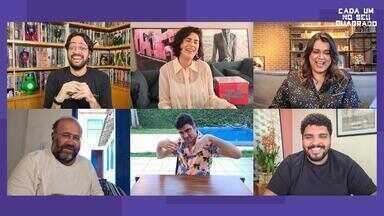 Programa de 07/08/2020 - Os apresentadores convidam Marcelo Adnet, Fernanda Paes Leme, Otávio Müller e Preta Gil para mais uma roda de brincadeiras. Eles são desafiados a mostrar a foto mais bizarra do seu rolo de câmera.