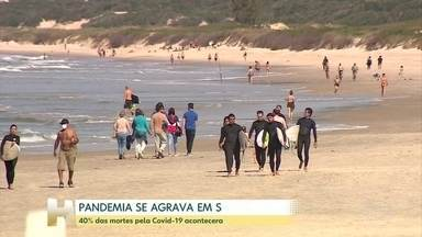 Santa Catarina enfrenta o momento mais dificil da pandemia - Quarenta por cento das mortes pela Covid-19 foram registradas nas ultimas duas semanas.