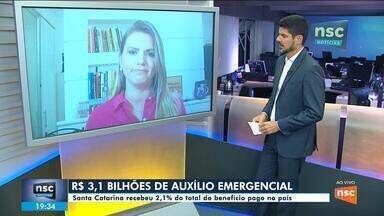 Governo paga R$ 3,1 bilhões de auxílio emergencial em SC - Governo paga R$ 3,1 bilhões de auxílio emergencial em SC