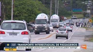 Governo de SC autoriza retomada de transporte interestadual - Governo de SC autoriza retomada de transporte interestadual