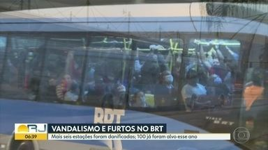 Em 2 dias, 6 estações foram vandalizadas no BRT - Enquanto isso, passageiros reclamam de superolatações e atrasos.