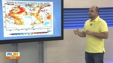Meteorologista explica as mudanças climáticas repentinas em Alagoas - Ventos fortes têm chamado atenção principalmente no litoral.