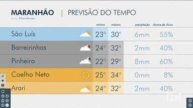 Veja a previsão do tempo para esta terça (4) no Maranhão - Segundo a meteorologia, há apenas 55% de chover em São Luís.