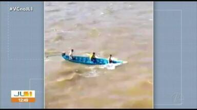 Seguem as buscas pelo adolescente desaparecido em um naufrágio em Óbidos, no Pará - Seguem as buscas pelo adolescente desaparecido em um naufrágio em Óbidos, no Pará
