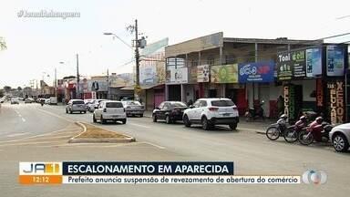 Prefeito decide suspender escalonamento no comércio de Aparecida de Goiânia - Gustavo Mendanha deu uma entrevista exclusiva à TV Anhanguera.