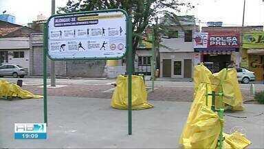 1º dia de reabertura dos parques e praças tem movimento tranquilo em Caruaru - Medidas de segurança foram adotadas para os locais.