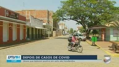 Idosos que testaram positivo em asilo de Campo do Meio são transferidos para escola - Idosos que testaram positivo para Covid-19 em asilo de Campo do Meio são transferidos para escola