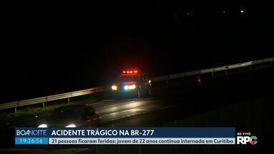 Jovem de 22 anos, vítima do acidente na BR-277, recebe alta do hospital em Curitiba - O acidente deixou 21 feridos e oito mortos.