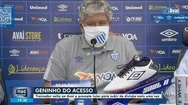Após saida de Rodrigo Santana, Avaí apresenta o novo técnico - Após saida de Rodrigo Santana, Avaí apresenta o novo técnico