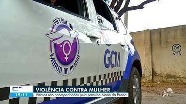 Vítimas são acompanhadas pela patrulha Maria da Penha em Juazeiro do Norte - Saiba mais em: g1.com.br/ce