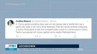 Prefeita de Palmas diz que não vai decretar lockdown se cidades vizinhas não aderirem - Prefeita de Palmas diz que não vai decretar lockdown se cidades vizinhas não aderirem
