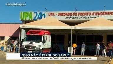 Homem com sintomas de Covid-19 não consegue ambulância, em Aparecida de Goiânia - Segundo familiares, ao solicitar o transporte, o paciente recebeu um 'não' como resposta.