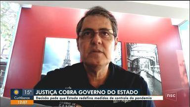Justiça cobra que governo de SC redefina medidas de controle da pandemia - Justiça cobra que governo de SC redefina medidas de controle da pandemia