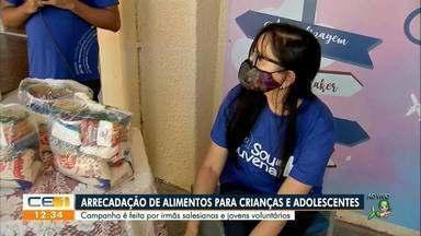 Campanha realiza arrecadação de alimentos para crianças e adolescentes - Saiba mais em g1.com.br/ce