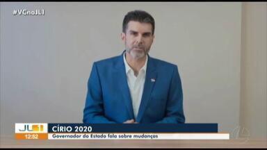 Governador Helder Barbalho se pronuncia sobre cancelamento das procissões do Círio 2020 - Governador Helder Barbalho se pronuncia sobre cancelamento das procissões do Círio 2020