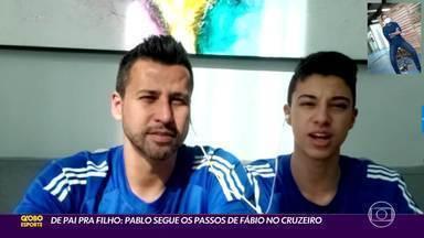 De pai pra filho: Pablo segue os passos de Fábio, no Cruzeiro - Filho do goleiro treina nas categorias de base do clube