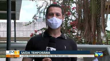 Justiça libera presos temporariamente para o dia dos Pais - O repórter Adailton Borba tem mais informações.