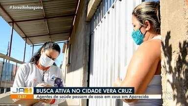 Agentes de saúde visitam casas tirando dúvidas sobre coronavírus em Aparecida de Goiânia - Eles também encaminham suspeitos para testagem.