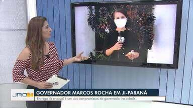 Governador Marcos Rocha em Ji-Paraná - Entrega de enxoval é um dos compromissos do governador na cidade.