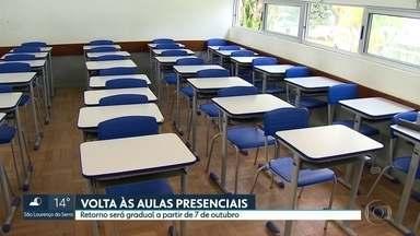 Governo de SP confirma retorno das aulas presenciais a partir de 7 de outubro - A retomada será gradual e na primeira etapa, para até 35% dos alunos.