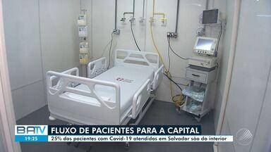 Covid-19: pacientes do interior da Bahia chegam a ocupar 25% dos leitos de UTI da capital - Apesar do dado, governos do estado e do município afirmam que não há sobrecarga na capital.