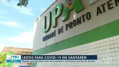 Órgãos acompanham taxa de ocupação e monitoram avanço da doença em Santarém - Leitos para Covid-19.