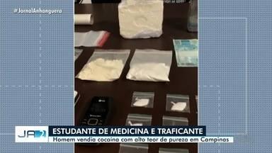 Estudante de medicina é preso suspeito de traficar cocaína em Goiânia - Droga comercializada tinha alto teor de pureza, diz polícia.