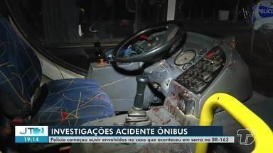 Polícia Civil ouve testemunhas de acidentes com ônibus na BR-163 - Confira.