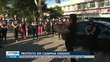 Profissionais de saúde relatam que foram vítimas de assédio no Isea, em Campina Grande - Um protesto foi realizado nesta sexta-feira (07).