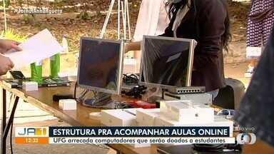 UFG realiza 'Dia D' de arrecadação de computadores para alunos de baixa renda estudarem - Meta é receber 5 mil equipamentos.