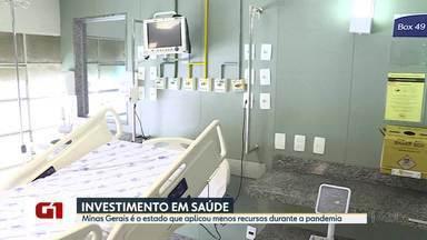 Minas Gerais é o estado que aplicou menos recursos na saúde durante a pandemia - Governo destinou 7,76% da Receita Corrente Líquida (RCL) à saúde, enquanto outros estados já destinaram mais que o mínimo estipulado por lei, que é de 12% por ano.