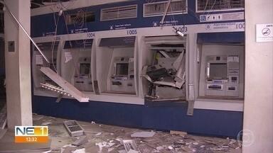 Criminosos explodem caixas de agência bancária em Paudalho - Polícia Federal informou que crime está sendo investigado.