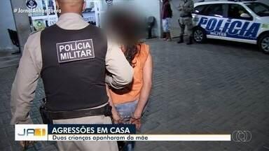 Duas crianças foram agredidas pela própria mãe, em Goiânia - Ela foi detida.