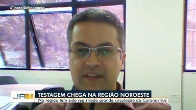 Prefeitura inicia testagem na região noroeste em Goiânia - Na região tem sido registrada grande circulação do coronavírus.