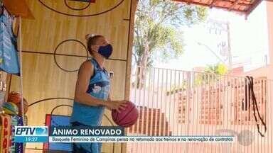 Basquete Feminino de Campinas pensa na retomada dos treinos e renovação de contratos - Com a progressão à fase amarela na cidade, jogadoras realinham contratos com patrocinadores e se preparam para volta dos jogos.