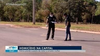 Suspeito de matar mulher e arrastar corpo por avenida é preso em Palmas - Suspeito de matar mulher e arrastar corpo por avenida é preso em Palmas