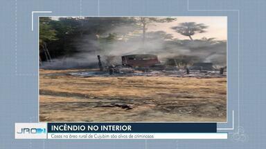 Casas na área rural de Cujubim, RO, são alvos de incêndios criminosos - Nos locais também foram registrados roubos
