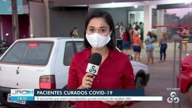 Pacientes curados de Covid-19 recebem alta em Porto Velho - Eles estavam internados no Hospital de Campanha da capital