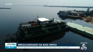 Base Arpão deixa Manaus com destino a Coari - Marinha determinou medidas de correção na embarcação recém-inaugurada