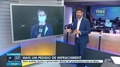 Novo pedido de impeachment contra o governador é protocolado na Alesc - Novo pedido de impeachment contra o governador é protocolado na Alesc