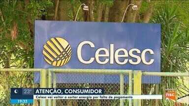 Celesc vai voltar a cortar energia por falta de pagamento - Celesc vai voltar a cortar energia por falta de pagamento